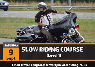 Rider Training – Slow Speed Level 1