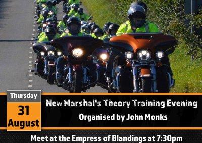 New Marshals Theory Training Evening
