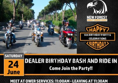 Dealer Birthday Bash and Club Ride In
