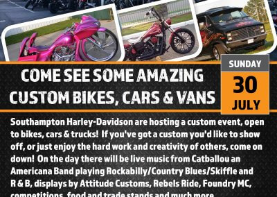 Club Ride into the SH-D Custom Bike Show