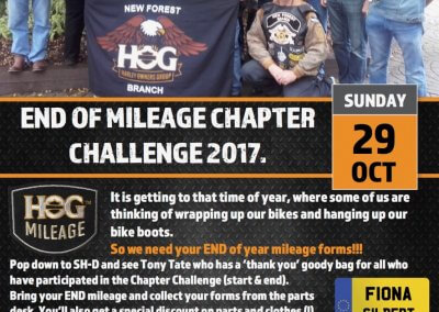End Mileage Event Chapter Mileage Challenge