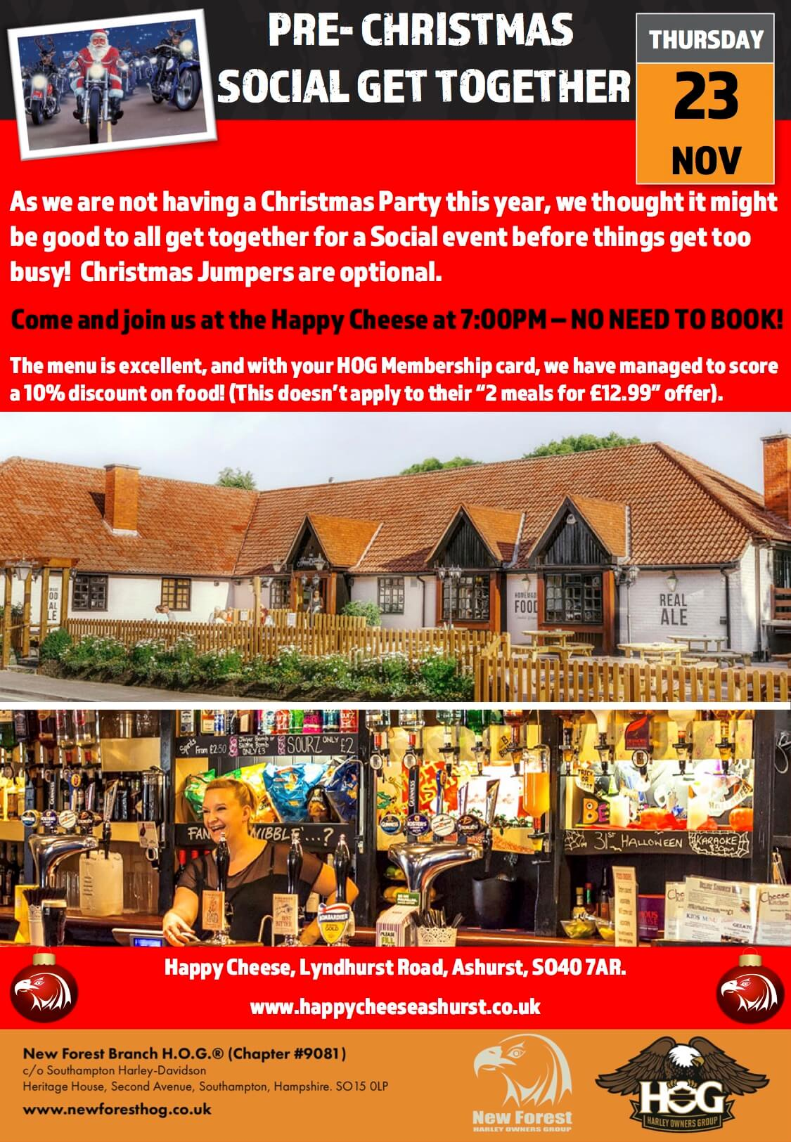 Pre-Christmas Social Get Together | New Forest Chapter #9081