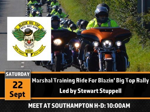 Marshal Training Ride for Blazin' Big Top Rally